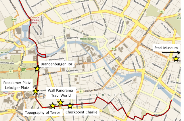 Berlin Wall route